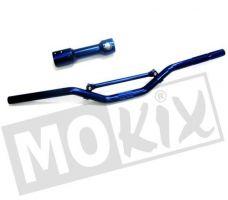 Sportstuur+Klem Blauw Yamaha Aerox / Beta Ark / Malaguti F12