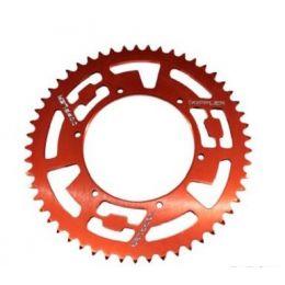 Achtertandwiel 53T Derbi Senda Gietwiel Doppler Aluminium CNC Rood