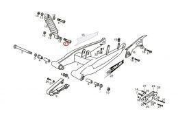 Bout Achterschokbreker Derbi Senda/DRD/X-Treme M12 X 45