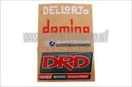 4-Delig Sticker Set Origineel Derbi DRD Achterspatbord