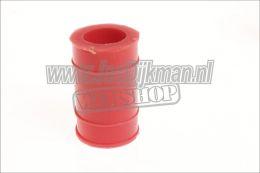 Uitlaat rubber - bevestiging demper - 22mm Rood