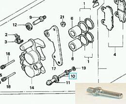 Geleidestift Onderzijde Remklauw Honda NSR