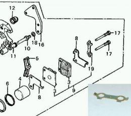 Borgplaat Remblokbout Honda MB5