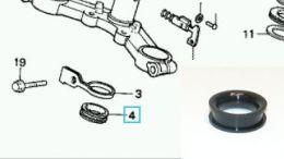Rubber in geleider remkabel Honda MT