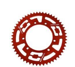 Achtertandwiel 53T Derbi Senda Spaakwiel Doppler Aluminium CNC Rood