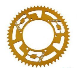 Achtertandwiel 53T Derbi Senda Gietwiel Doppler Aluminium CNC Goud