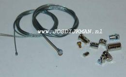 Kabel reparatieset 2X Kabel + 9X Nippel