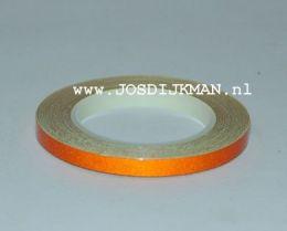 Wielstriping 5MM - 6mtr Oranje