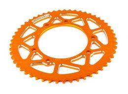 Achtertandwiel 53T Derbi Senda Spaakwiel Stage6 Oranje