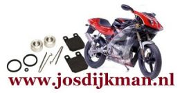Remklauw revisieset achterwiel Derbi GPR 1997-2004