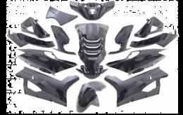 Kappenset Peugeot Speedfight 4 Metallic Zwart