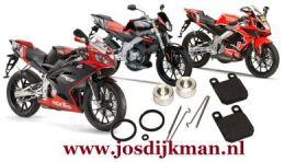 Remklauw revisieset Achterwiel Derbi GPR (-nude) en RS 50 2005-2012